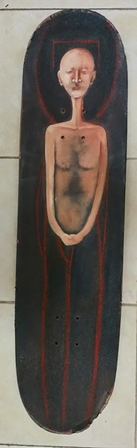 דמות איש שמן על סקייטבורד